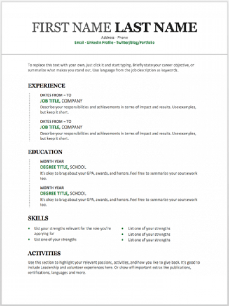 Free Resume Templates You Can Customize In Microsoft Word